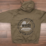 hoodie-be-strong-military-green-back