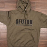 hoodie-be-strong-military-green-front